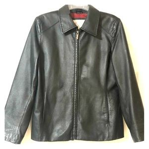 Black Worthington women's genuine leather jacket